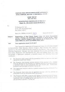 RERA Registration certificate-1